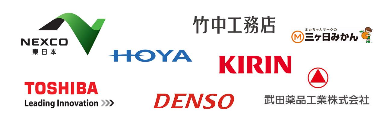 納入実績企業のロゴ